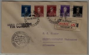 Argentina/Germany Zeppelin cover 8.5.35 signed DrSimon