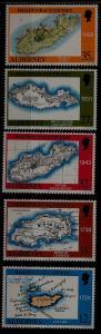 Alderney 37-41 MNH Map SCV5
