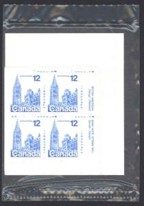 Canada Sc# 714 MNH PB Set/4 (plate 1 SEALED) 1977 12¢ Houses of Parliament