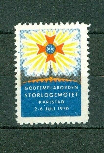 Sweden. Poster Stamp. IOGT. 1950 Karlstad Grandlodge Meeting. Godtemplar Order.