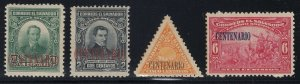 El Salvador 1921 Centenary Of Independence Set VLM Mint. Scott 481A-481D
