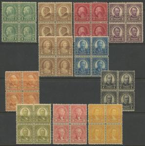 #581-591 VF+ OG NH BLOCKS OF 4 CV $1,722 WLM846