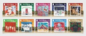 Stamps of the Isle of Man 2019. - Christmas Cards 2019 - Christmas Spirit - Mint