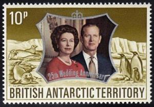 British Antarctic Territory # 44 mnh ~ 10p Queen Elizabet...