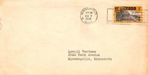Togo 1c Coconut Grove 1930 Minneapolis, Minn. Local use.  Some edge wear at r...