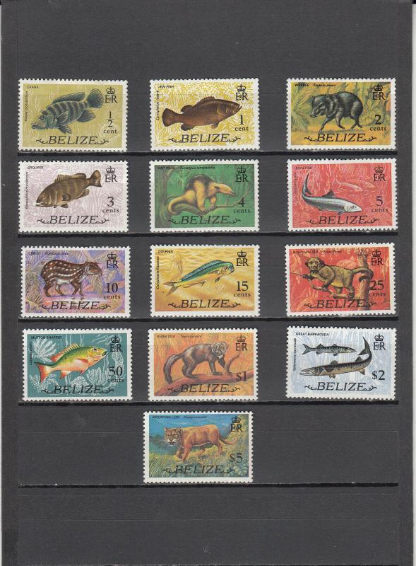 BELIZE 327-339 MINT 2014 SCOTT CATALOGUE VALUE $11.60