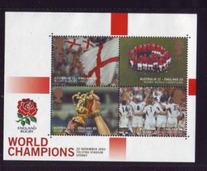 Great Britain Sc 2171 2003 Rugby Champs stamp sheet mint NH