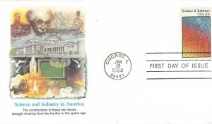 US  2031 Science & Industry    FDC Fleetwood Cachet