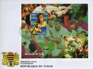 Chad 2002 Champion of Rugby - Jonah Lomu - Souvenir Sheet Perforated (1) FDC