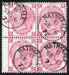 SG103 3d Rose Plate 8 RATHKEALE CDS Block of FOUR