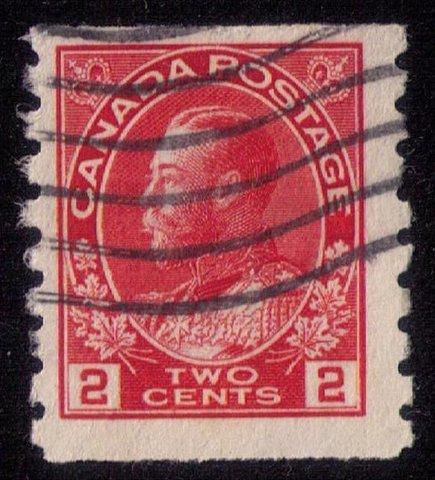 Canada Sc 127ii Used Dark Rose Red Coil Fine