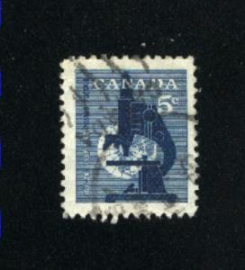 Canada  376  -1   used VF PD 1958