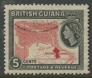 STAMP STATION PERTH British Guiana #257 QEII Definitive Issue Used CV$0.25