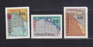 Venezuela 886-888 Set MNH Maps