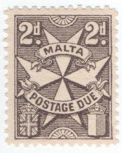 (I.B) Malta Postal : Postage Due 2c