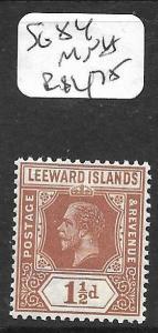 LEEWARD ISLANDS  (PP0105B) KGV  DIE I  1 1/2D  SG  84    MNH