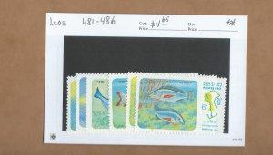Laos  481-486  MNH