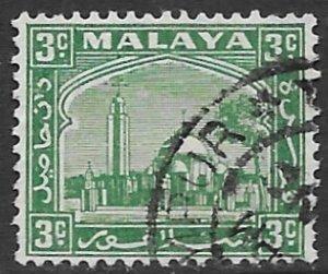 Malaysia - Selangor 46B  1941   3 cent fine used