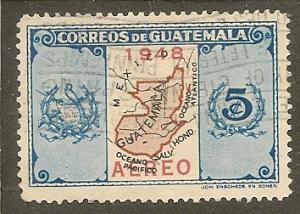 Guatemala   Scott  C157    Map      Used