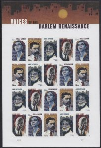 US 5471-5474 5474a Voices of the Harlem Renaissance forever sheet MNH 2020