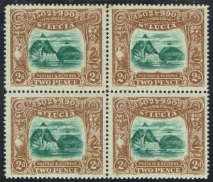 ST LUCIA 1902 400TH ANNIVERSARY 2D MNH ** BLOCK