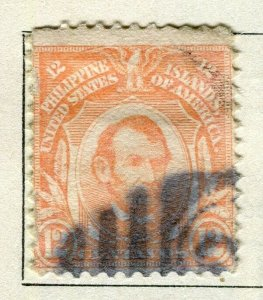 PHILIPPINES; 1909 early Portrait series issue used 12c. value