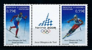 [101523] Andorra French 2006 Olympic winter games Turin Torino skiing  MNH