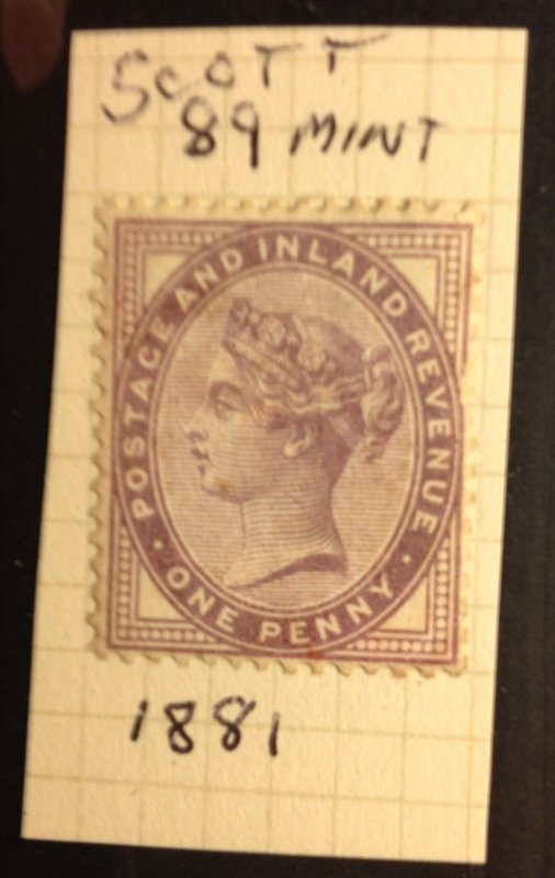 Great Britain Scott 89 MH Very Fine