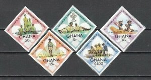 Ghana, Scott cat. 484-489. Scout Conference o/print issue. Light Hinged.