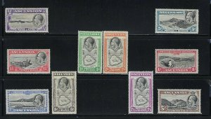ASCENSION IS. SCOTT #23-32 1934 GEORGE V PICTORIALS- MINT LIGHT HINGED/HINGED