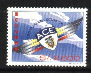 #974 ECUADOR 1997 SPORTS AEROCLUB AVIATION Yv 1383,Mi 2364 MNH