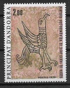 1979 French Andorra 271 Pre Roman Falcon Painting MNH