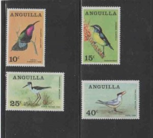 ANGUILLA #36-39  1968  ANGUILLAN BIRDS   MINT VF LH  O.G