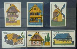 Match Box Labels ! architecture construction project house buildings GN10