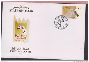 O) 2014 QATAR, HORSE, WAHO CONFERENCE QATAR, FDC XF