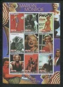 Turkmenistan Commemorative Souvenir Stamp Sheet - Marilyn Monroe