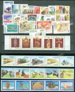 EDW1949SELL : SENEGAL Collection of all DIFF. VF MNH Cplt sets & S/S Sc Cat $101