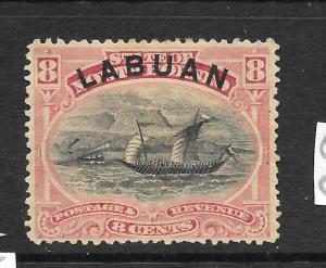 LABUAN  1894-96  8c   PICTORIAL    MLH    SG 68