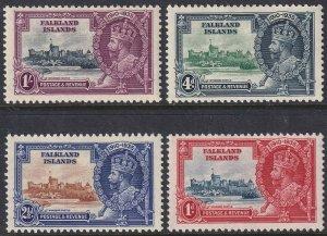 Sc# 77 / 80 Falkland Islands 1935 KGV MMH Silver Jubilee set CV: $55.00 Stk #2