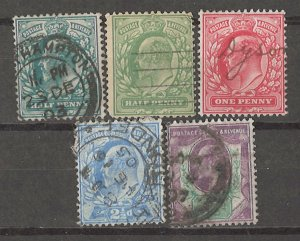 COLLECTION LOT # 4247 GREAT BRITAIN 5 STAMPS 1902+ CV+$39