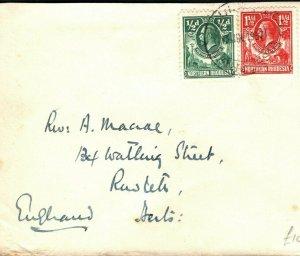 NORTHERN RHODESIA KGV Cover Lusaka Port Jameson GB 1937{samwells-covers}PB245