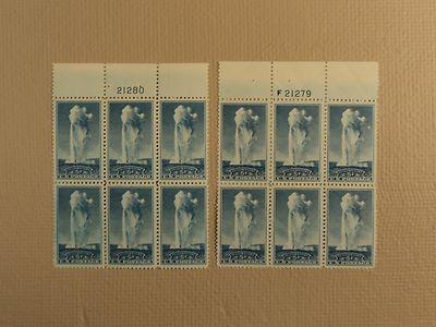 USPS Scott 744 5c Yellowstone Old Faithful 1934 Lot Of 2 ...