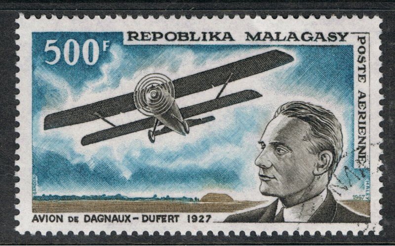 MALAGASY REPUBLIC 1967 40th ANNIVERSARY OF 1st FLIGHT TO TANANARIVE