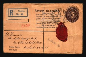 Ireland 1928 Registered Cover to USA - Z17050
