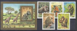 Benin 755-60 MNH Animals SCV6.55