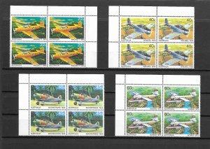 Australia - 1980 Aeroplanes - Plate Block Set - MNH - Sc759-762
