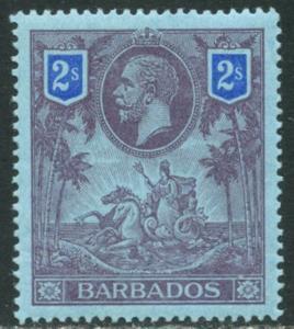 BARBADOS Sc#125 SG179 1912 2sh KGV High Value OG Mint LH
