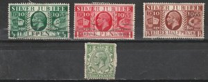 #159,226-28  Great Britain Used George V