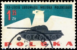 POLAND / POLEN - 1963 Mi.1429 1.35Zl 20yrs People's Army - VF Used (a)