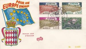 Monaco # 507-509, C61, Europa 1962 First Day Cover